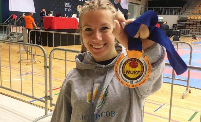 И.В. Дашкина на 11-м WUKF Чемпионате Европы по каратэ