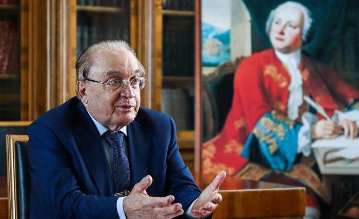 MOSCOW, RUSSIA - APRIL 20, 2020: Viktor Sadovnichy, Rector of Lomonosov Moscow State University, gives an interview to the TASS News Agency. Anton Novoderezhkin/TASS  Ðîññèÿ. Ìîñêâà. Ðåêòîð Ìîñêîâñêîãî ãîñóäàðñòâåííîãî óíèâåðñèòåòà èìåíè Ì.Â. Ëîìîíîñîâà Âèêòîð Ñàäîâíè÷èé âî âðåìÿ èíòåðâüþ èíôîðìàöèîííîìó àãåíòñòâó ÒÀÑÑ. Àíòîí Íîâîäåðåæêèí/ÒÀÑÑ